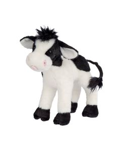 Kleine Plüsch-Kuh in Schwarz-Weiß