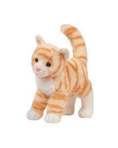 Plüschtier-Katze orange-getigert, stehende Position